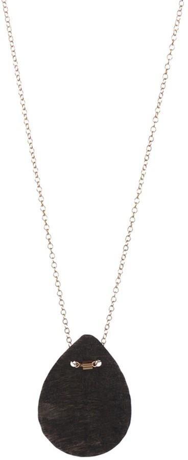 Cecilia Gonzales Black Pendant Necklace