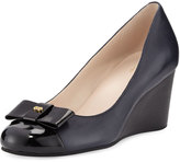 Cole Haan Elsie Leather Wedge Pump, Blazer Blue/Black