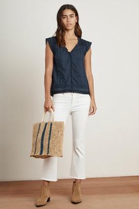 Velvet by Graham & Spencer Row Stripe Straw Bag