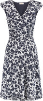 Tory Burch Marian printed silk-blend dress