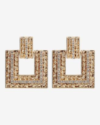 Express Multi Stone Mini Rectangular Drop Earrings