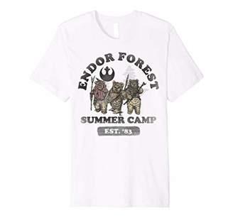 Star Wars Endor Forest Summer Camp Group Shot Faded Portrait Premium T-Shirt