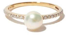 Mateo Sphere Diamond, Pearl & 14kt Gold Ring - Womens - Pearl