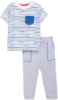 Isaac Mizrahi Striped Short Sleeve Tee & Pant Set (Baby Boys 12-24M)