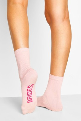 boohoo Bridesmaid Ribbed Socks