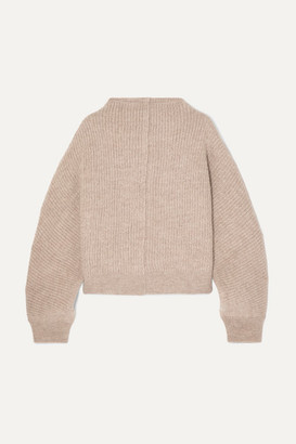 LE 17 SEPTEMBRE Ribbed Wool Sweater - Tan