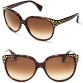 Alexander McQueen Studded Cat Eye Sunglasses