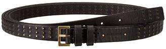 AllSaints 18mm Double Wrap Mini Stud Belt (Black) Women's Belts