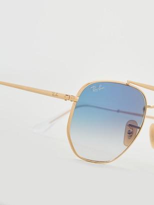 Ray-Ban 0RB3648Blue Lens Hexagonal Sunglasses