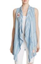 Billy T Embroidered Striped Vest