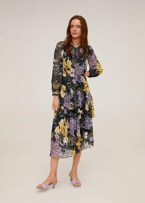 MANGO Flowy flower printed dress light/pastel purple - 6 - Women