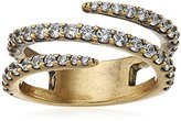 """Nicole Miller Artelier"""" Pave Coil Ring, Size 7"""