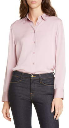 Nordstrom Signature Stretch Silk Button-Up Shirt