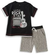 Kids Headquarters Two-Piece Printed Tee and Shorts Set