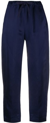 Semi-Couture Cropped Straight-Leg Trousers