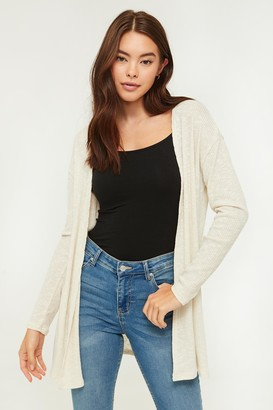 Ardene Open Rib-knit Cardigan