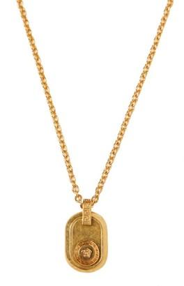 Versace Medusa Head Pendant Necklace - Mens - Gold
