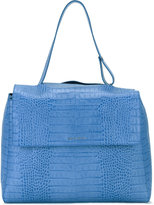 Orciani crocodile effect shoulder bag