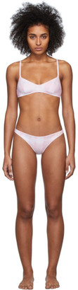 Solid And Striped Solid and Striped Pink Tie-Dye The Rachel Bikini