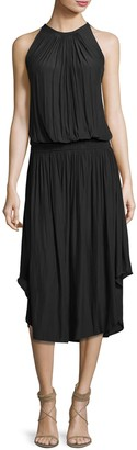 Ramy Brook Audrey Sleeveless Blouson Midi Dress