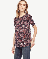 Ann Taylor Daisy Shirred Short Sleeve Blouse