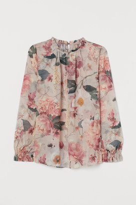 H&M H&M+ Creped Chiffon Blouse - Brown