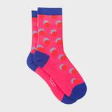 Paul Smith Women's Raspberry Pink Polka Dots Socks