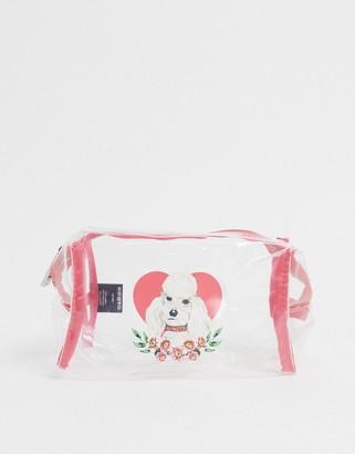 Skinnydip poodle makeup bag