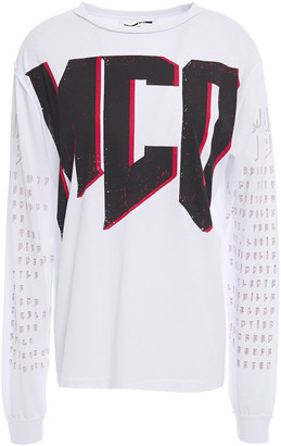 McQ Printed Cotton-jersey Top