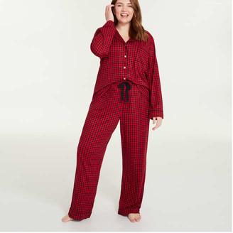 Joe Fresh Women+ Sleep Pants, Red (Size 1X)