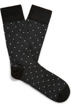 Corgi - Polka-dot Cotton-blend Socks
