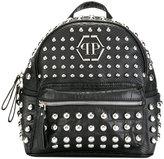 Philipp Plein studded logo backpack - women - Polyurethane/PVC/Polyester - One Size
