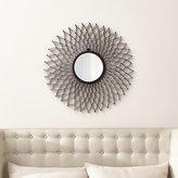 Crate & Barrel Dahlia Round Wall Mirror