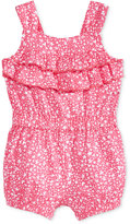 First Impressions Stars-Print Ruffled Cotton Romper, Baby Girls (0-24 months), Only at Macy's