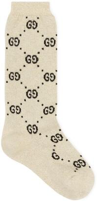 Gucci Children's cotton GG lame socks