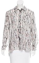 Carven Printed Button-Up Top w/ Tags