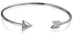 Bling Jewelry Cupids Arrow Tips Bangle Cuff Bracelet Women High 925 Sterling Silver