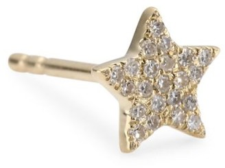 Ef Collection Diamond Star Stud Single Earring