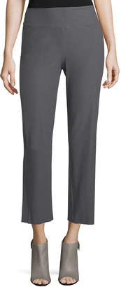 Eileen Fisher Petite Washable Stretch Crepe Boot-Cut Pants