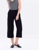 Dorothy Perkins Extended Buckle Tab Wide Leg Crop Pants