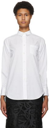 Sacai White Poplin Drop-Tail Shirt