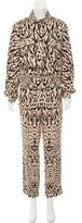 Temperley London Jacquard Leopard Patterned Jumpsuit w/ Tags