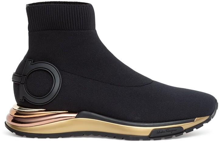 Salvatore Ferragamo Gancini black sneakers
