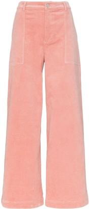 Ganni Ridgewood high waisted corduroy trousers