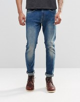 Lee Luke Skinny Jeans Aqua Tint Dark