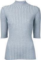 Le Ciel Bleu ribbed detail top - women - Polyester/Rayon - 36