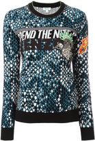 Kenzo snake embroidered jumper - women - Cotton/Polyamide/Spandex/Elastane - M