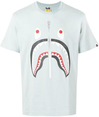 A Bathing Ape sad shark-print T-shirt