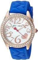 Betsey Johnson Women's Quartz Metal and Silicone Casual Watch, Color:Blue (Model: BJ00048-204)