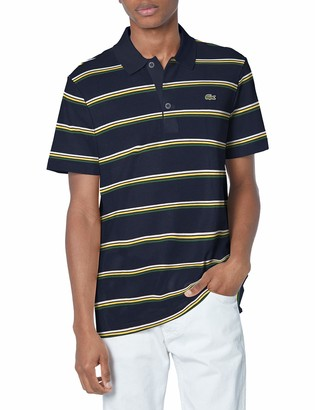 Lacoste Men's Short Sleeve Horizontal Stripe Polo Shirt